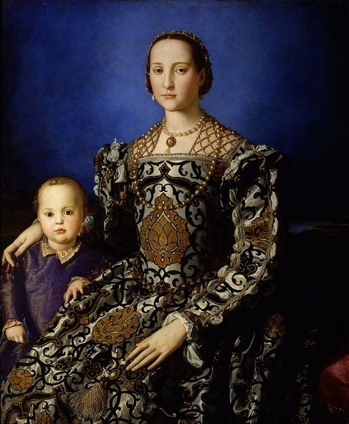 Ritratto di Eleonora di Toledo con il figlio Giovanni, 1544 circa, Angelo Bronzino, Uffizi, Firenze