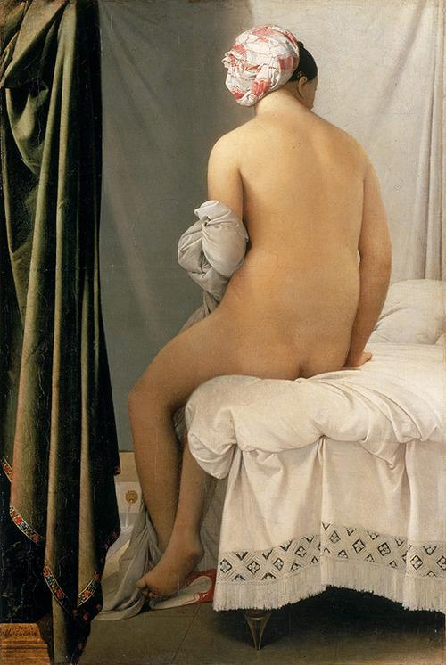 La bagnante di Valpincon, Jean Auguste Ingres, 1808, Mademoiselle Caroline Riviere, Jacques Auguste Ingres, 1808,  Musée du Louvre, Parigi.