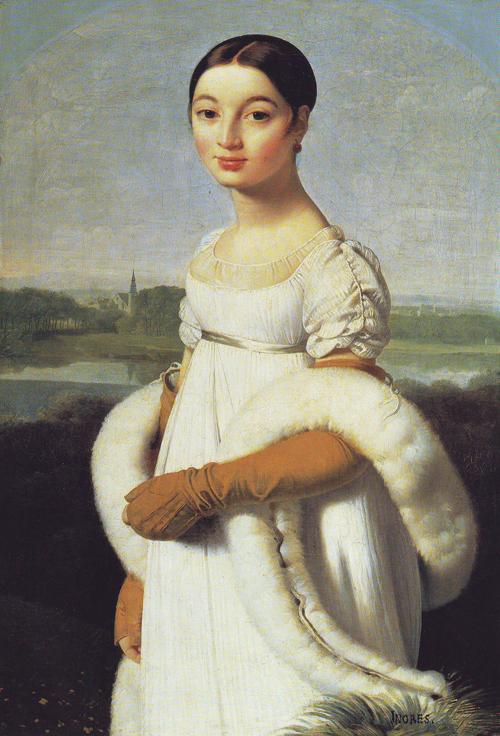 Mademoiselle Caroline Riviere, Jacques Auguste Ingres, 1806,  Musée du Louvre, Parigi.