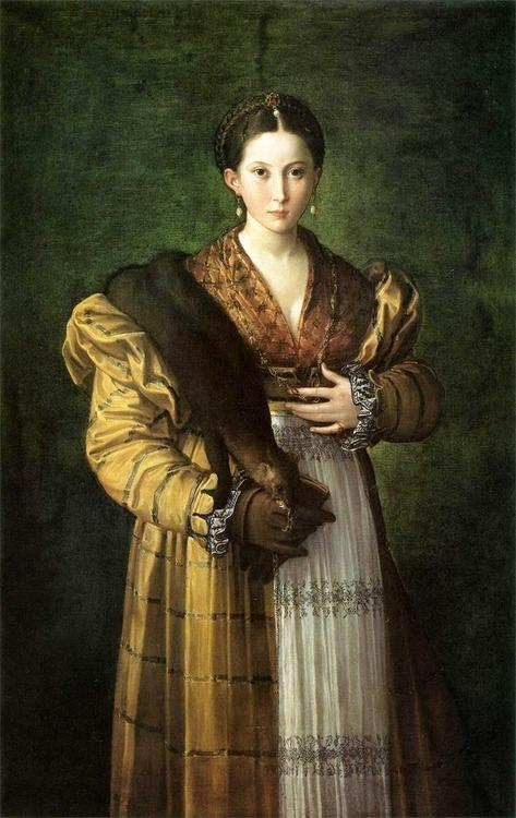 """Ritratto di giovane donna, detta """"Antea"""" di Parmigianino, 1535. Napoli, Museo di Capodimonte, facente parte della Collezione Farnese."""
