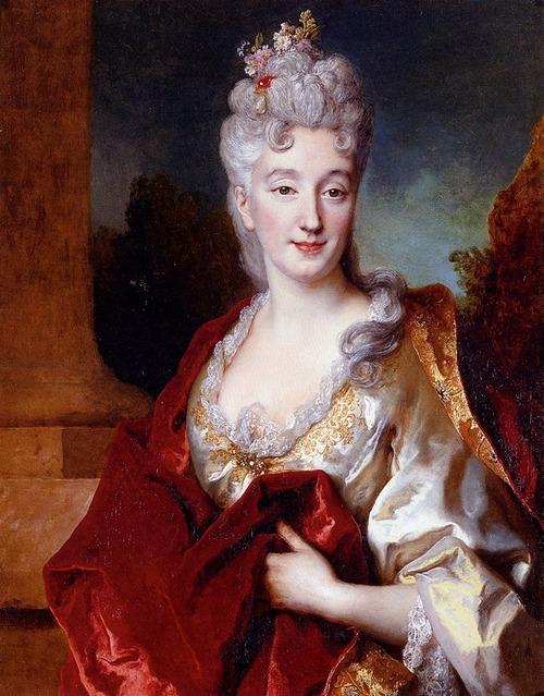 Ritratto di gentildonna, presumibilmente la Contessa de Courcelles, Nicolas de Largilliere, 1714