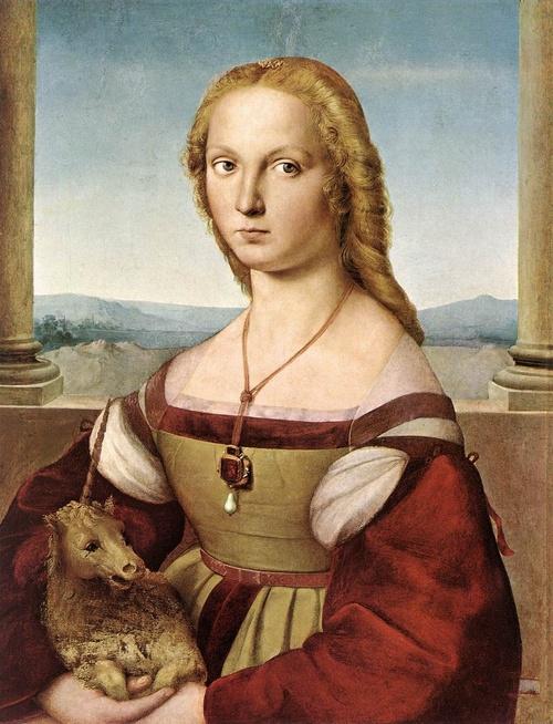 Dama con liocorno, Raffaello Sanzio, 1505 circa, Galleria Borghese, Roma
