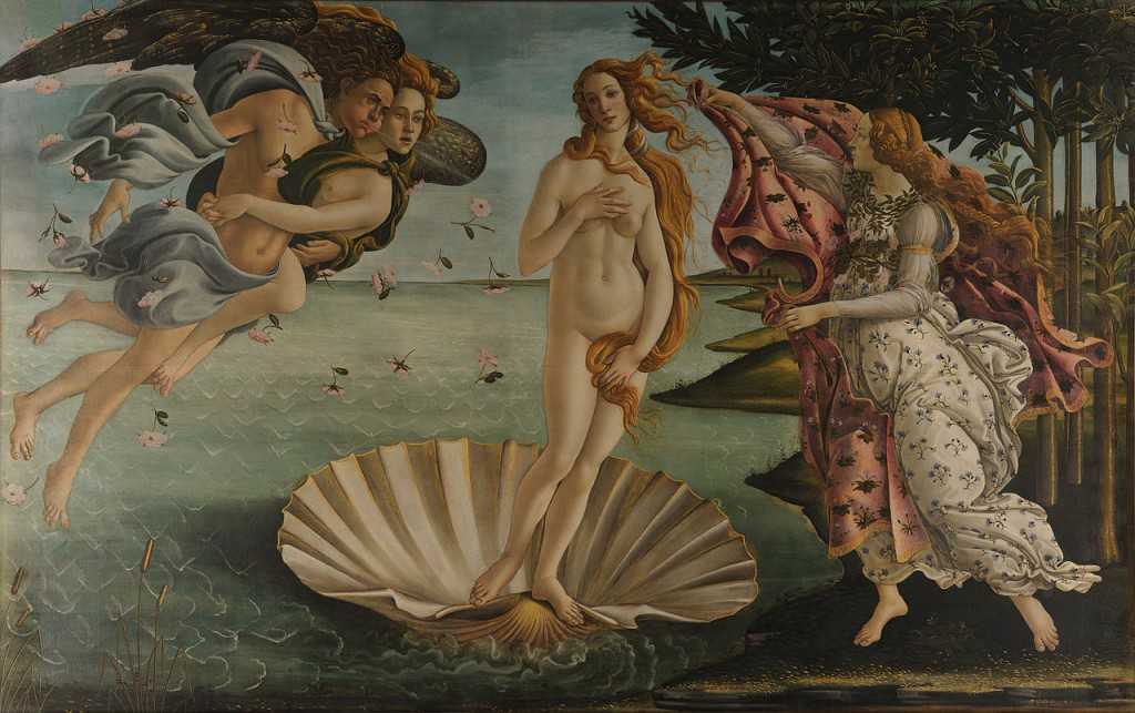 Nascita di Venere, Sandro Botticelli, 1482-1482, Uffizi, Firenze
