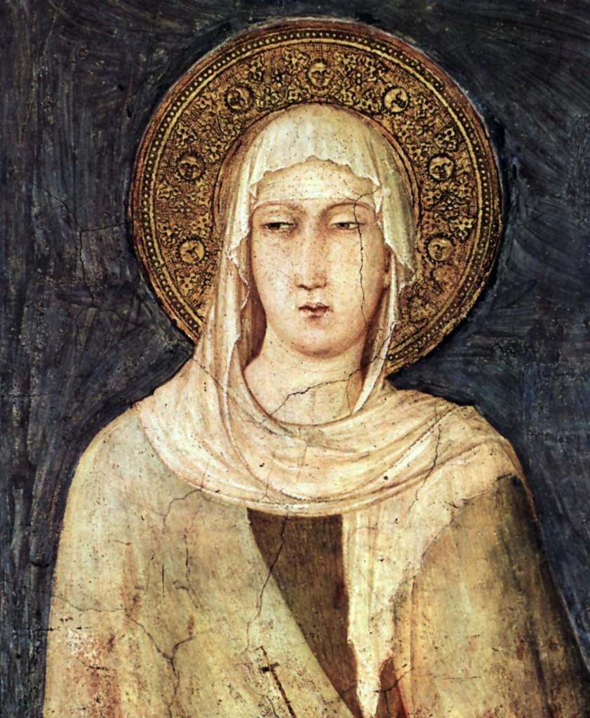 Ritratto di Santa Chiara, Simone Martini, 1322 circa, basilica di San Francesco, Assisi