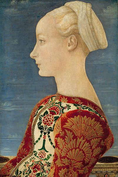 Ritratto di Lucrezia Landriani, Antonio Pollaioulo, 1465