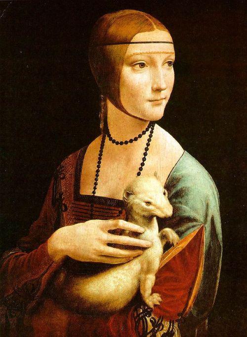Dama con Ermellino, ritratto di Cecilia Gallerani, Leonardo da Vinci, 1490