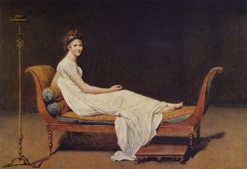 Madame Récamier, Jacques-Louis David, 1800,  Musée du Louvre, Parigi