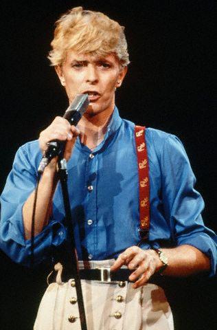 David Bowie Singing in Concert