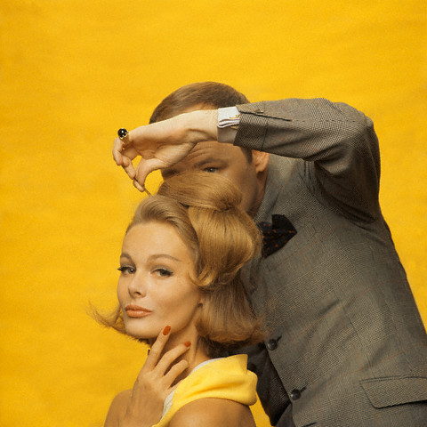 Kenneth styling a bouffant