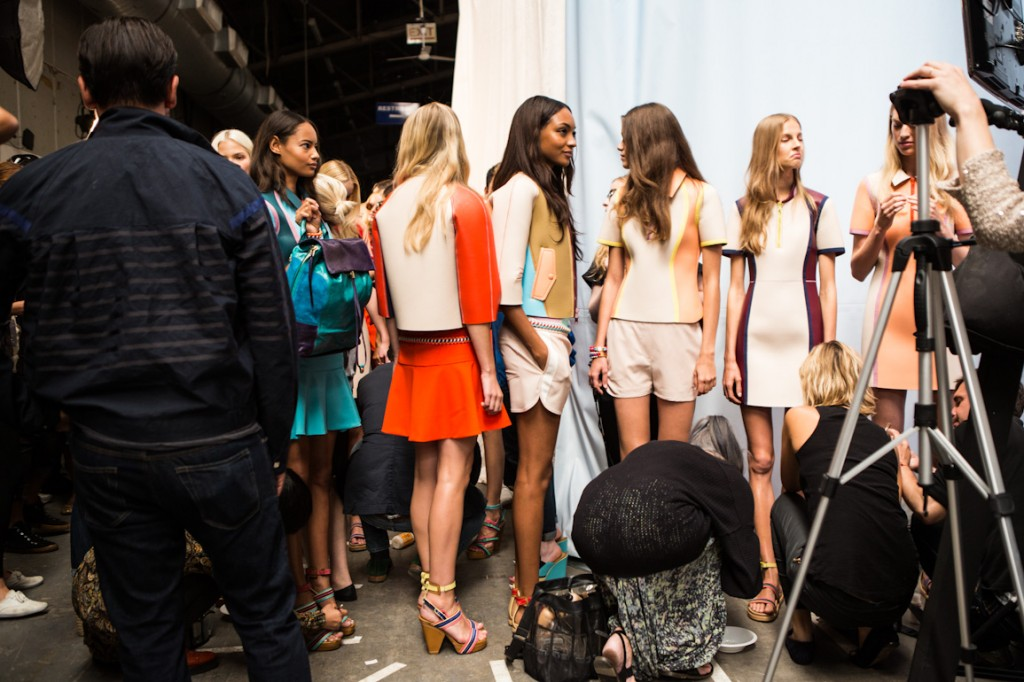 New York Fashionweek ss2014, day 5, Backstage Tommy Hilfiger