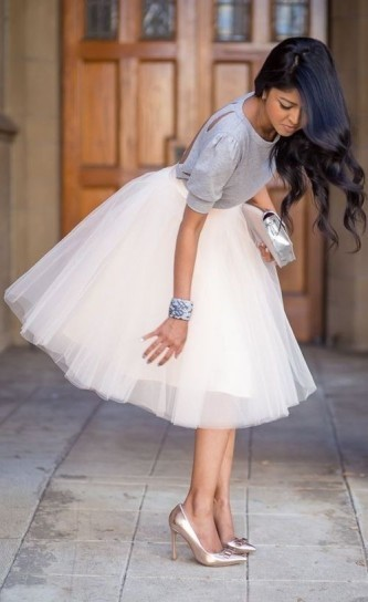 gonna-di-tulle-bianca
