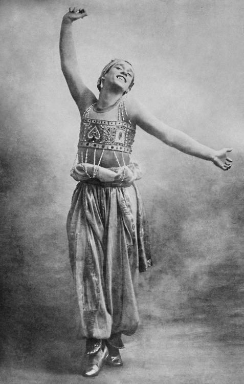 Vaslav Nijinsky in the ballet Scheherazade, choreographed by Michel Fokine, 1912.