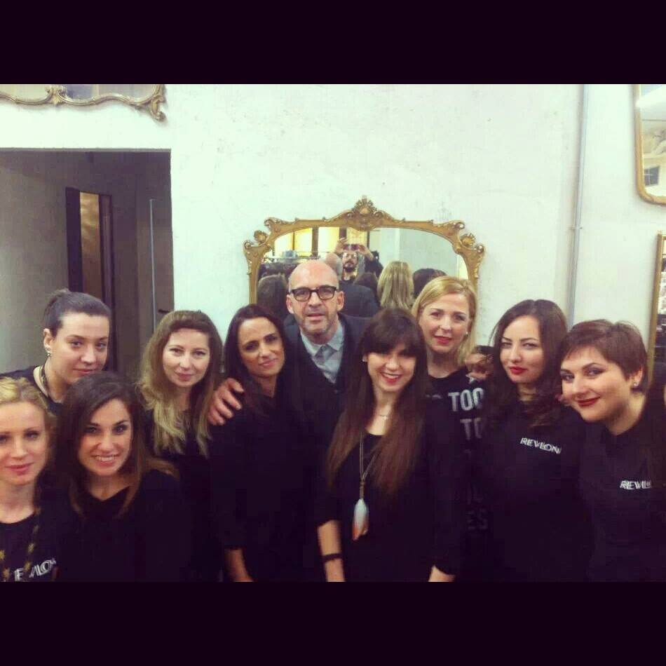 Team Revlon con Antonio Marras