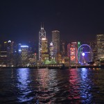 Gioco di luci a hong kong