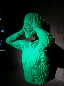 """Green"" by Nathan Sawaya- The Art of the Brick"