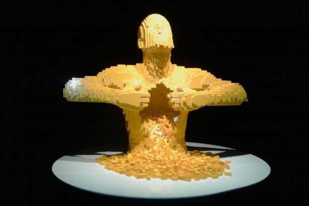 """Yellow"" by Nathan Sawaya- The Art of the Brick"